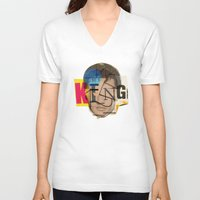 king V-neck T-shirts featuring King by Marko Köppe