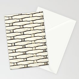 Natural Woven Cane Stationery Cards
