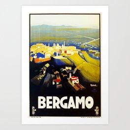 1920s Bergamo Italy travel Art Print