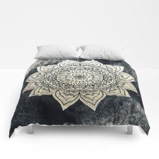 DEEP GOLD MANDALA Comforters