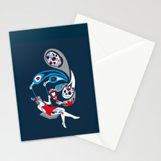 Swinging with La Muerta Stationery Cards