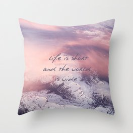 World is wide Throw Pillow