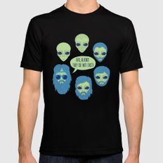 aliens MEDIUM Black Mens Fitted Tee