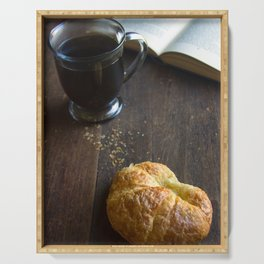 Coffee and Croissant Serving Tray