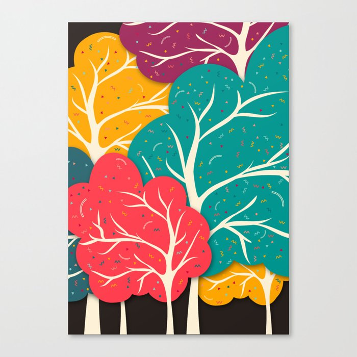 Happy Forest Canvas Print