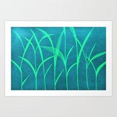 green grass Art Print