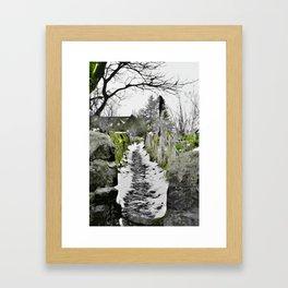 Heptonstall Winter Path Framed Art Print