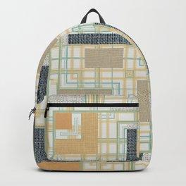 Burlap Texture Geo Pattern Backpack