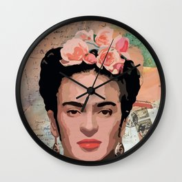 Frida Kahlo letters Wall Clock