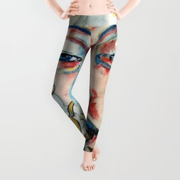 Buddah, lotus and OM Leggings