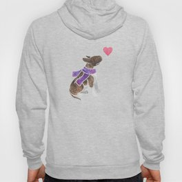 Watercolour Bull Terrier Hoody