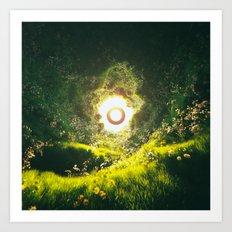 LIGHT TUNNEL END GOOD (everyday 07.13.17) Art Print