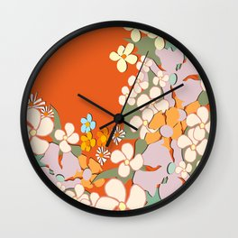 Florals Crowding Wall Clock