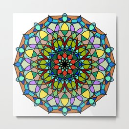 Mandala with art handmade Metal Print