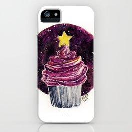 Galaxy Cupcake Birthday Card iPhone Case