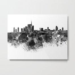Milan skyline in black watercolor Metal Print