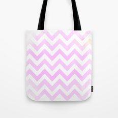 Pink Textured Chevron Pattern Tote Bag