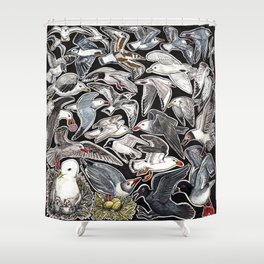 Sea gulls for bird lovers Shower Curtain