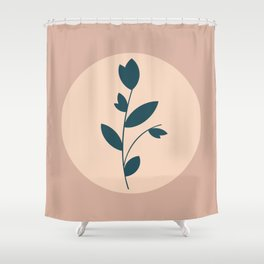 Botanical Abstract - Neutral Rose Shower Curtain