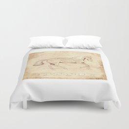 Da Vinci Horse: Canter Duvet Cover