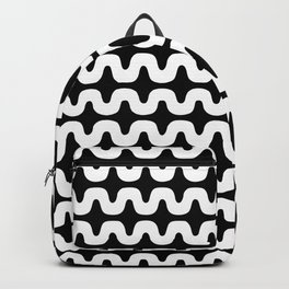White and black pattern Backpack