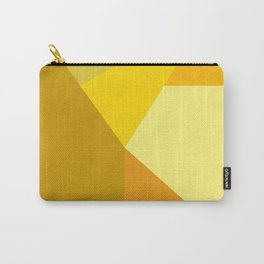 Geometric Yellows Carry-All Pouch