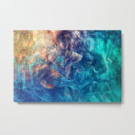 From oceans we rose Metal Print