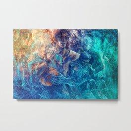 From oceans we rose Metal Print