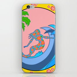 Girls Surf Too solid iPhone Skin