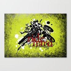 ride hard - BMX Canvas Print