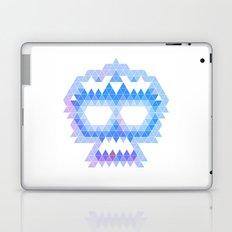 Punk Triangle Skull - Blue Laptop & iPad Skin