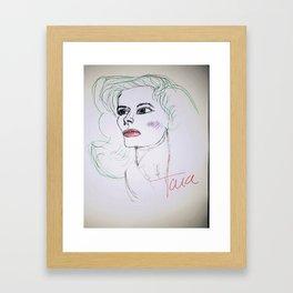 Katherine gone mint Framed Art Print