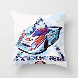 """Lancia LC2 """"Lancia-Ferrari""""// Le Mans Race Cars Throw Pillow"""