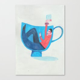 Sugar with your Tea?-Abstract Illustration Canvas Print