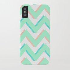 3D CHEVRON MINT/PEACH/TEAL Slim Case iPhone X