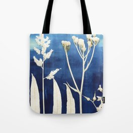 Blue Sky Yellow Flower Tote Bag