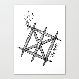 THE GAME_WHITE Canvas Print