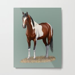 Beautiful Bay Pinto Quarter Horse Metal Print