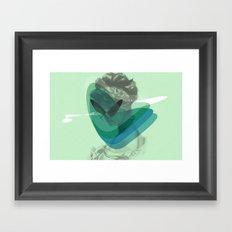 Corazón alcanzado Framed Art Print