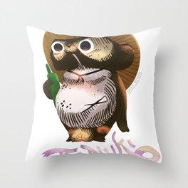 Tanuki Raccoon Bear の置物タヌキの置物写真館 Throw Pillow