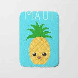 Maui Pineapple (blue) Bath Mat