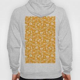 Orange Floral Pattern Hoody