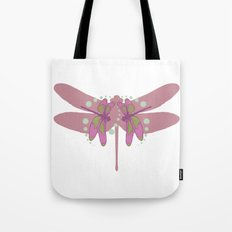 pattern with dragonflies 3 Tote Bag