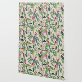 Bird Garden Vintage Wallpaper