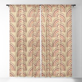 Rusty and sand. Abstract pattern Sheer Curtain