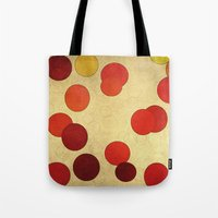 circles Tote Bags featuring Circles by SensualPatterns