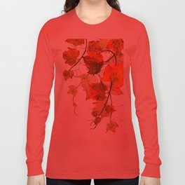 orange grapevine 2 Long Sleeve T-shirt