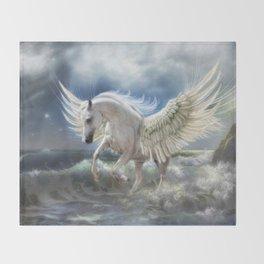 Pegasus Rising Throw Blanket