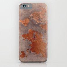 World map 7 brown iPhone 6s Slim Case