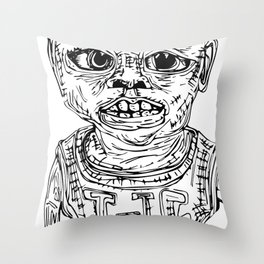 The Punk Kid Throw Pillow